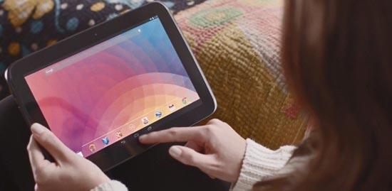Google Nexus 10 en uso