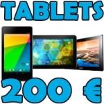 Las mejores tablets de menos de 200 euros