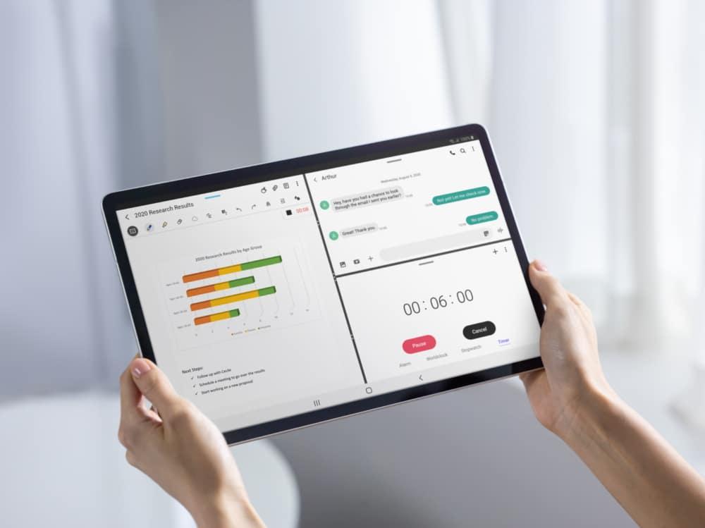 documentos en tablet