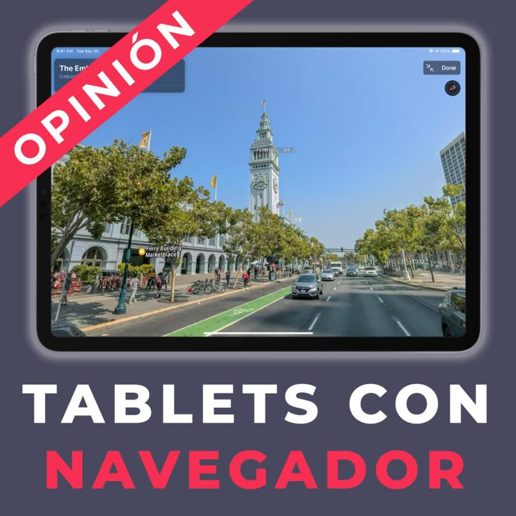 tablet con navegador